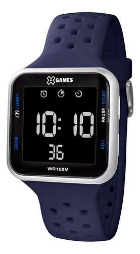 Relógio X-games Unissex Digital Xgppd092 Cinza Negativo