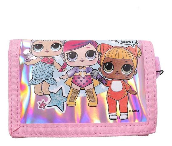 Billetera Para Nenas Lol Surprise Metalizada Original