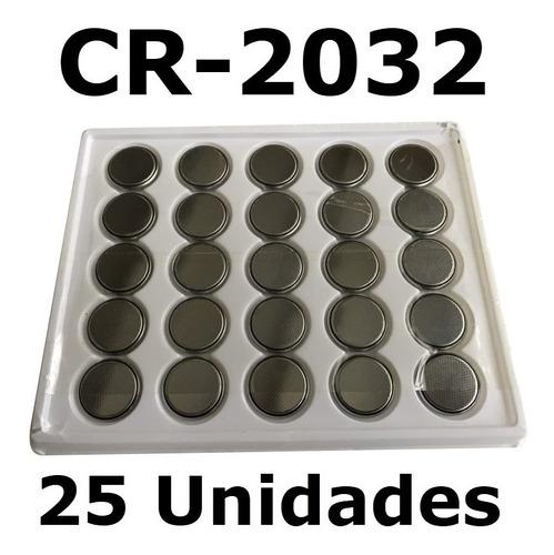 Pila Boton De Litio Cr2032 3v Pack X 25 Unidades
