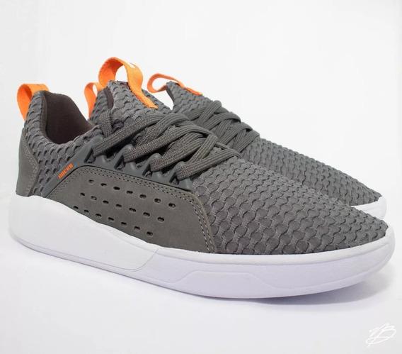 Tênis Hocks Skate Le Parc Cinza Branco Atenas Sneaker Confortável Casual Masculino E Feminino Promoção Envio Imediato