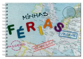Álbum Foto Ferias Viagem Mapa Fina Ideia Presente Criativo
