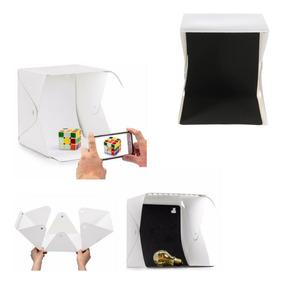 Mini Estúdio Fotográfico Portátil Completo Boxfoto C/2 Fundo