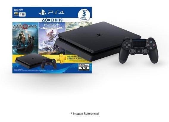 Play Station 4 Sony 1tb Hits 4 + 3 Juegos Físicos + 1 Mando