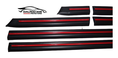 Fiat Uno 3 Puertas Scr Bagueta Negra Con Vira Roja Molduras