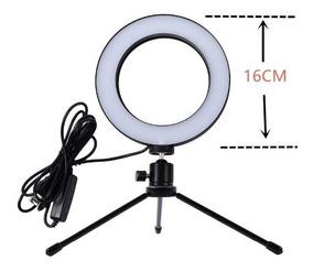 Mini Ring Light + Tripe Iluminador Portátil 16cm Aproveite !
