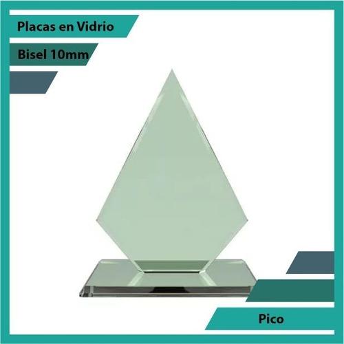 Placas Conmemorativas En Vidrio Pico Plano