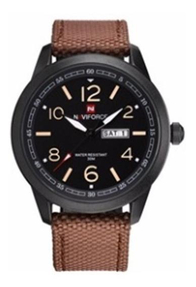 Relógio Naviforce 9101 Estilo Militar Pulseira Nylon Masculi