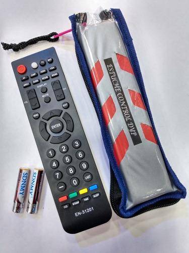 Imagen 1 de 1 de Control Remoto Para Tv Challenger/hisense Lcd + Forro + Pila