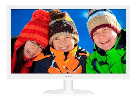 Monitor 21,5 Led Philips Branco Hdmi Vga Full Hd 223v5lhsw