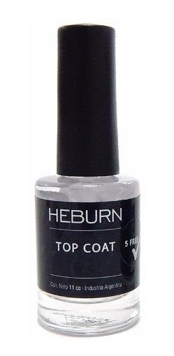 Heburn Esmalte Uñas 191 Top Coat Laca Protección Manicuria