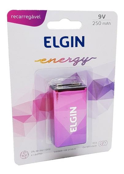 Bateria Recarregavel 9v 250mah Elgin Blister Original