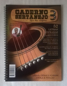 Caderno Sertanejo Vol 3 Músicas Cifradas Para Viola E Violão