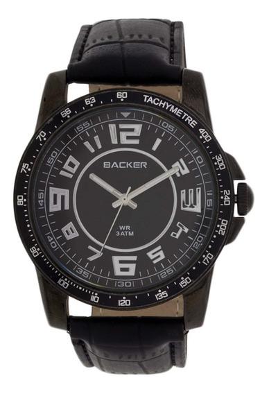 Relógio Masculino Backer 3220112m Pulseira De Couro- Vltrine