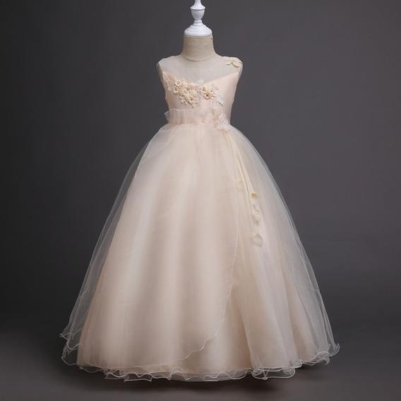 Vestido Infantil Festa Daminha Casamento Formatura Longo