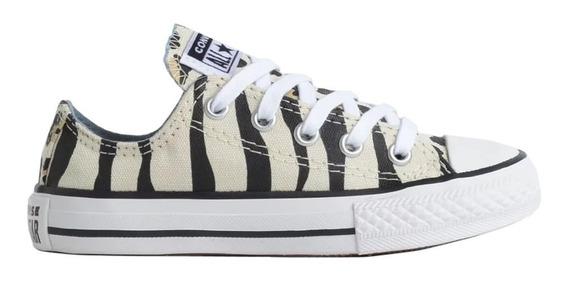 Tênis All Star Converse Infantil Zebra/onça Ck0811 -original