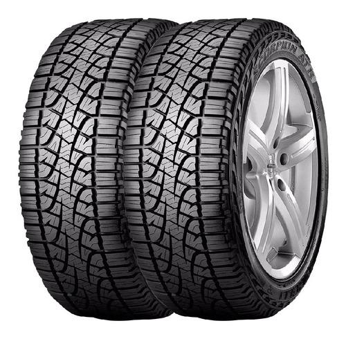 Imagen 1 de 2 de Combo X2 Neumaticos Pirelli 235/75 R15 S-atr 110s Cuotas