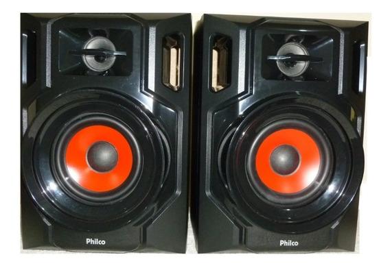 Kit 2 Caixas Acústicas Frontais Philco 250 W , 6 Ohms Red