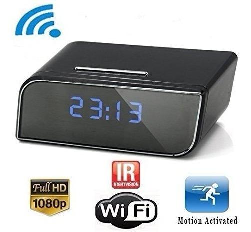 Câmera Espiã Relogio Wifi Ip 1080p Monitoramento Nf