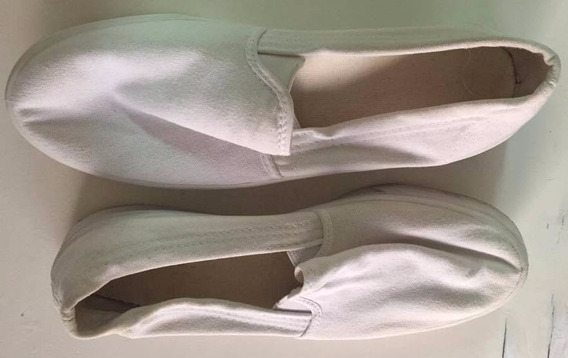 Zapatillas Panchas Blancas De Hombre
