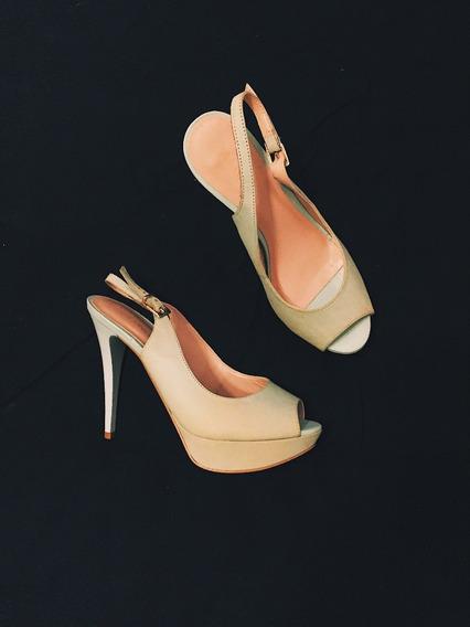 Zapatos Via Uno Color Celeste Pastel Talle 37