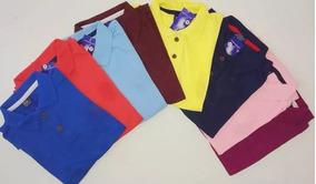 Kit 10 Camisa Polo Masculina Roupas Variadas Gola Polo Cores
