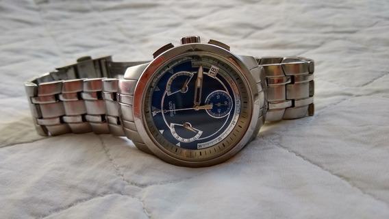 Relógio Swatch Dark Steel Yrs400g Cronógrafo (genuíno)
