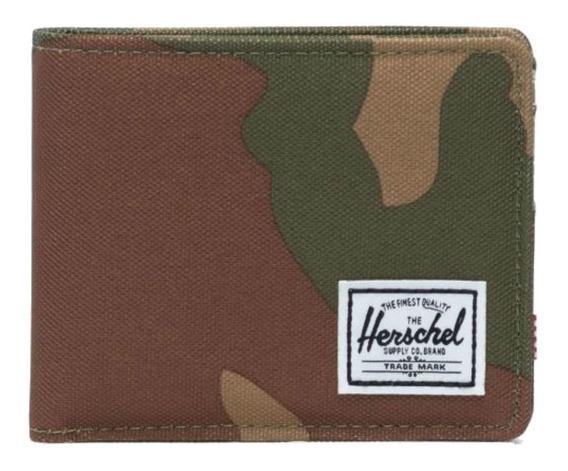 Billetera Herschel Roy woodland camo poliéster 600d