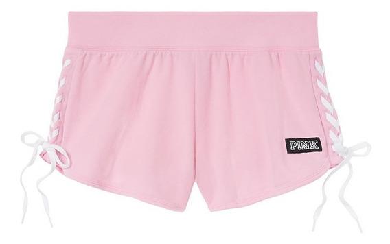 Short Rosa Cordones Laterales Pink S Victoria