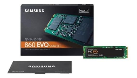 Ssd Hd M.2 M2 Samsung 860 Evo 500gb 3d Nand Sata 12x S Juros