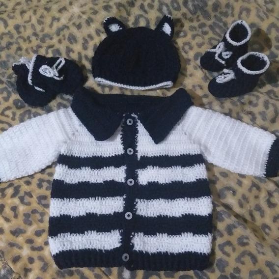 Jogo Bebê Recém Nascido Em Crochê