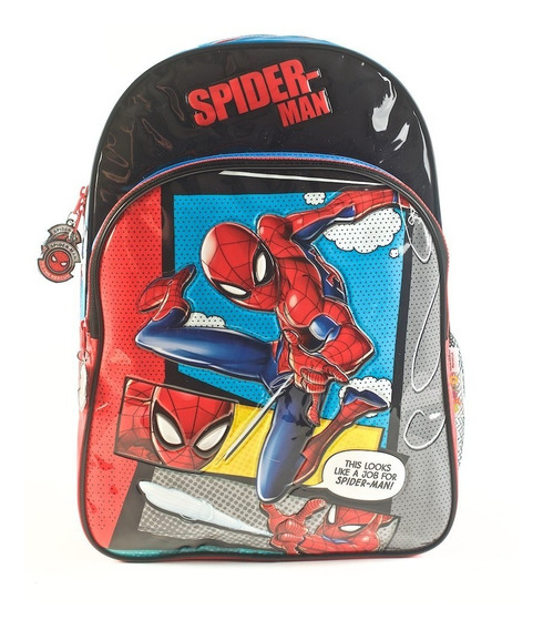 Mochila Spider-man Sense Celeste Espalda 16 Envío Gratis