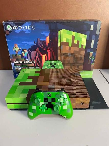 Xbox One S 1tb Edição Limitada Minecraft