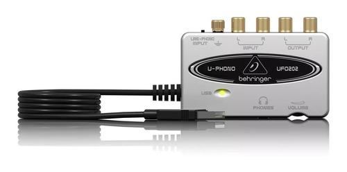 Interfaz Audio Vynil Behringer U-phono Ufo202 + Garantía