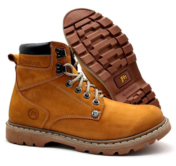 Bota Coturno Bmbrasil Yellow Boot Working 8600
