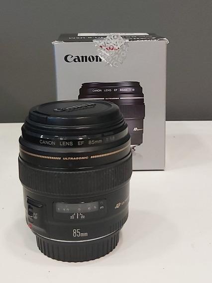 Lente Canon 85mm 1.8 Semi Nova