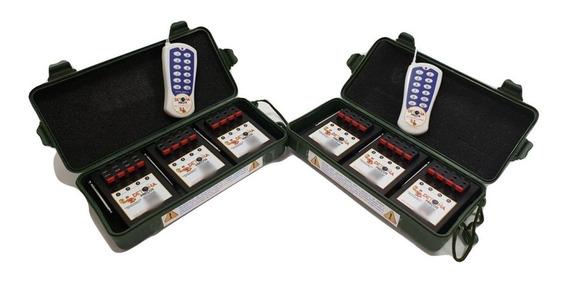 Acionador De Fogos 12 Canais, Modo Sequencial + Skib