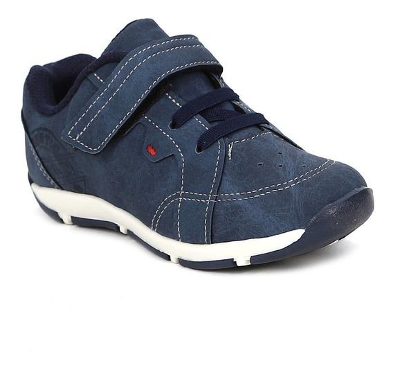 Sapato Klin Infantil Para Bebê Menino - Azul