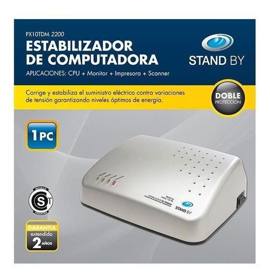 Estabilizador P/computadora (cpu-monitor-impresora-scanner)