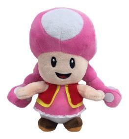 Pelúcia Turma Mario Bros Toadette (15cm) - Importada