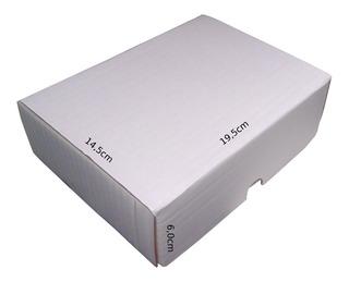 Frete Grátis Kit 100 Caixas De Papelão Branca 19x14x6 Correios + 100 Etiquetas Térmicas De Remetente
