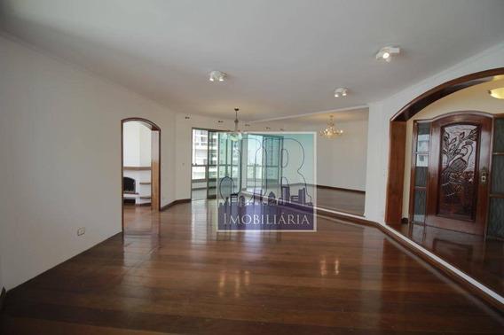 Apartamento Com 4 Dormitórios À Venda, 279 M² Por R$ 2.150.000 - Campo Belo - São Paulo/sp - Ap0377