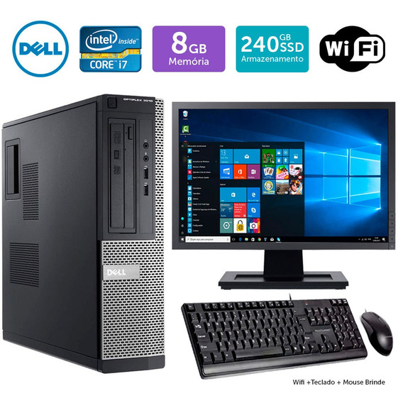 Pc Barato Dell Optiplex 3010int I7 16gb Ssd240 Mon17w Brinde