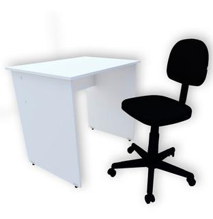 Conjunto Mesa + Cadeira Giratória Home Office/school Estudos