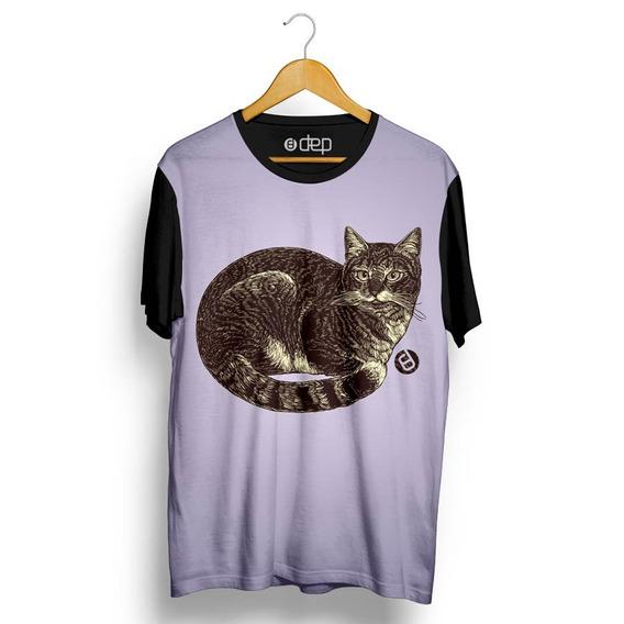 Camiseta Dep Gato Lilás