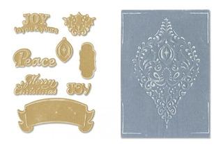 Sizzix - Faca Framelits Com Placas De Emboss Ornaments