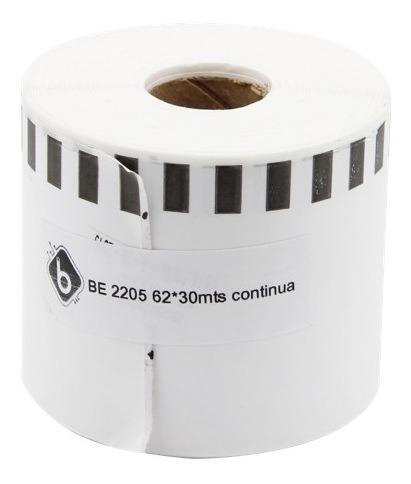 4 Rollos De Etiquetas 2205 62mmx30metros Brother Compatible