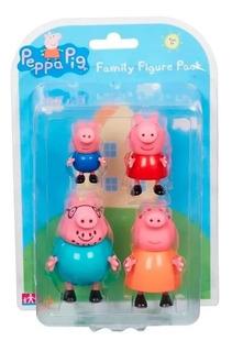 Peppa Pig Pack De 4 Figuras De Familia Caffaro