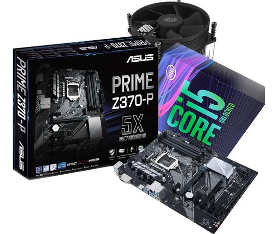 Kit 9ª Geração Intel Core I5 9600k Cooler I50 Mb Asus Z370p
