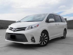 Toyota Sienna 3.5 Xle Piel At 2018 Blanco Camioneta Minivan