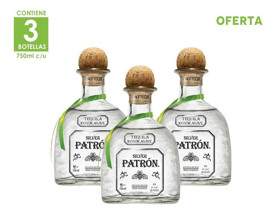 3x2 Tequila Patron Silver 750ml